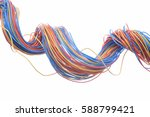colorful electrical cables... | Shutterstock . vector #588799421