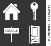 home for sale icons set... | Shutterstock .eps vector #588803969