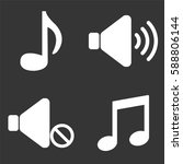 music and audio icons set... | Shutterstock .eps vector #588806144