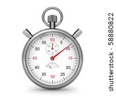isolated stopwatch on white.... | Shutterstock . vector #58880822