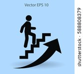 career ladder vector icon | Shutterstock .eps vector #588808379