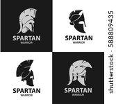 greek and roman warriors... | Shutterstock .eps vector #588809435
