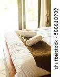 beautiful room in villa  towel... | Shutterstock . vector #588810989