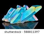 amazing colorful quartz rainbow ... | Shutterstock . vector #588811397