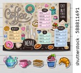 coffee shop  brochure vector ... | Shutterstock .eps vector #588811691