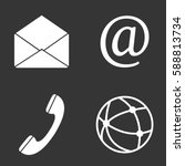 communication web icons set... | Shutterstock .eps vector #588813734