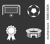 football icons set isolated on  ... | Shutterstock .eps vector #588815834