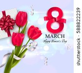 8 march womens day greeting... | Shutterstock .eps vector #588822239