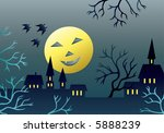scary landscape. | Shutterstock .eps vector #5888239