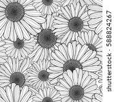 vector floral seamless pattern. ... | Shutterstock .eps vector #588824267