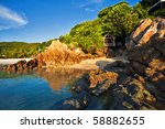 beautiful tropical beach.... | Shutterstock . vector #58882655