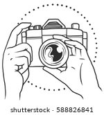 vector logo of hands holding... | Shutterstock .eps vector #588826841