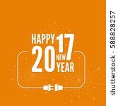 connecting to the new year 2017.... | Shutterstock .eps vector #588828257