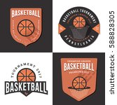 set of basketball tournament... | Shutterstock .eps vector #588828305