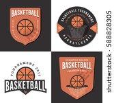 set of basketball tournament... | Shutterstock .eps vector #588828305