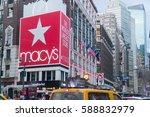 new york city   circa 2017 ... | Shutterstock . vector #588832979
