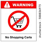 no shopping cart sign  vector... | Shutterstock .eps vector #588836975