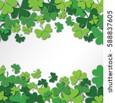 happy saint patrick's day... | Shutterstock . vector #588837605