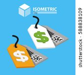 tags. isometric | Shutterstock .eps vector #588838109