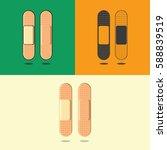 plaster icon. icons plaster... | Shutterstock .eps vector #588839519