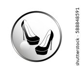 high heel shoes icon.   Shutterstock .eps vector #588848591