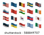 vector collection of flags on... | Shutterstock .eps vector #588849707