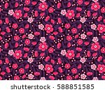 cute floral pattern. pretty... | Shutterstock .eps vector #588851585