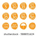 uv skin protection concept.hand ...   Shutterstock .eps vector #588851624
