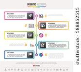 timeline infographics design... | Shutterstock .eps vector #588852515