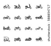 motorcycle icons | Shutterstock .eps vector #588854717