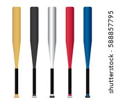 vector of baseball bat with... | Shutterstock .eps vector #588857795