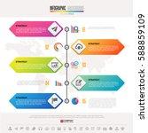 timeline infographics design...   Shutterstock .eps vector #588859109