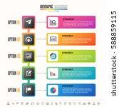 timeline infographics design...   Shutterstock .eps vector #588859115
