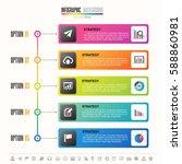timeline infographics design... | Shutterstock .eps vector #588860981