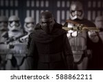 star wars kylo ren stands with... | Shutterstock . vector #588862211