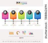 timeline infographics design... | Shutterstock .eps vector #588862694