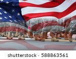 soldiers dressed in army... | Shutterstock . vector #588863561