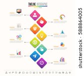 timeline infographics design... | Shutterstock .eps vector #588864005