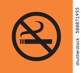 no smoking icon | Shutterstock .eps vector #588871955