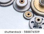 industrial metal gear cogwheels ... | Shutterstock . vector #588876509