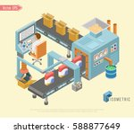 automated factory assembly line ... | Shutterstock .eps vector #588877649