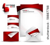identity kit   red package  ... | Shutterstock .eps vector #58887788