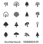 tree vector icons for user... | Shutterstock .eps vector #588880439