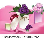 spring delicate flowers bouquet ...   Shutterstock .eps vector #588882965