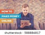 how to make money online concept | Shutterstock . vector #588886817