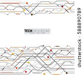 vector illustration abstract... | Shutterstock .eps vector #588890789