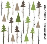 Forest Vector Pattern. Seamles...