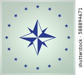 compass rose icon vector.