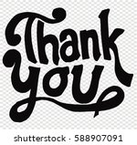 thank you  card | Shutterstock .eps vector #588907091