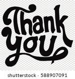 thank you  card | Shutterstock .eps vector #588907091